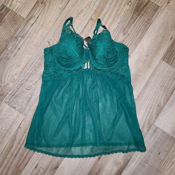 La Senza Emerald Green Babydoll
